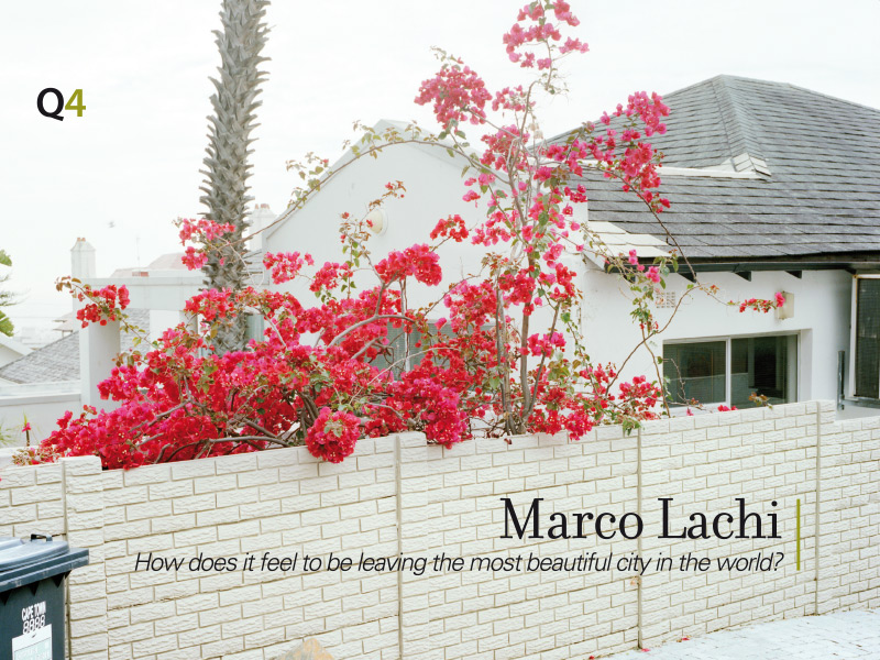 Marco Lachi - How does it feel to be leaving the most beautiful city in the world?