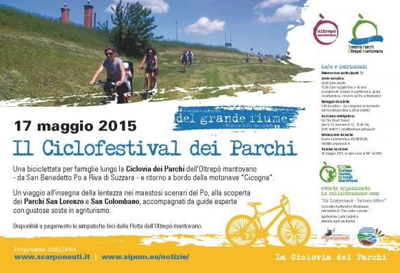 Ciclofestival dei Parchi dell'Oltrepò Mantovano. 17 maggio 2015