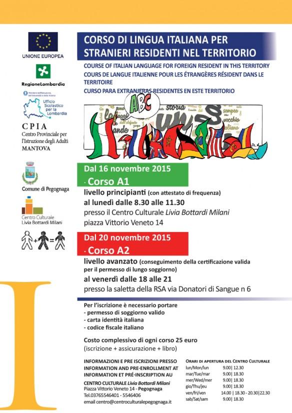 Corso di lingua italiana per stranieri - Programma