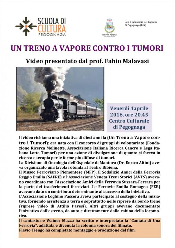Un treno a vapore contro i tumori