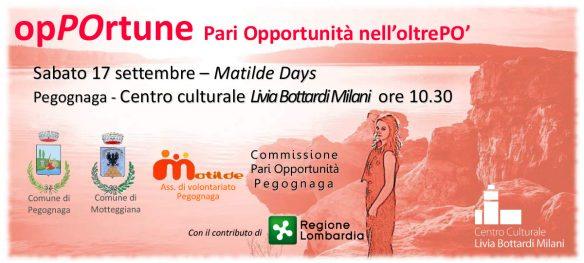 opPOrtune – Pari Opportunità nell'oltrePÒ | Sabato 17 settembre – Matilde Days | Pegognaga