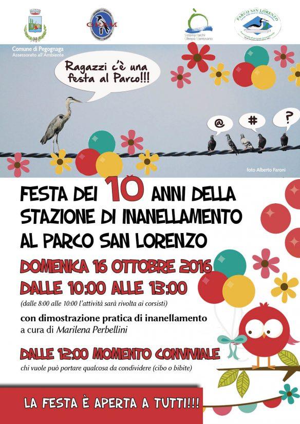 Festa dei 10 anni della stazione di inanellamento al Parco San Lorenzo