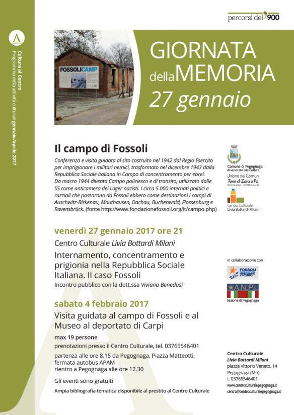 27 gennaio 2017. Giorno della memoria - Il campo di Fossoli e il Museo al deportato di Carpi