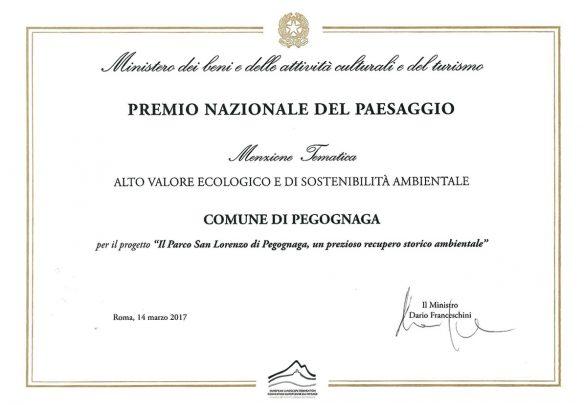 Parco San Lorenzo. Premio del Paesaggio del Consiglio d'Europa 2016/2017