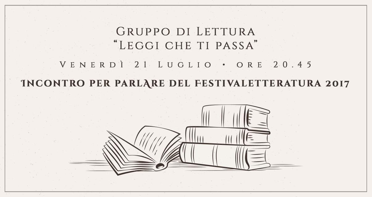 Incontro del Gruppo di Lettura - Festivaletteratura 2017