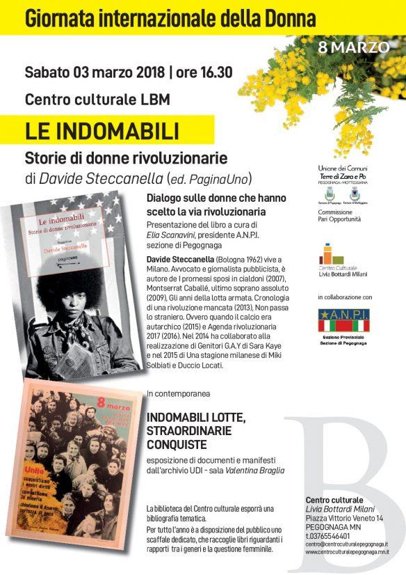 8 marzo - LE INDOMABILI - Storie di donne rivoluzionarie