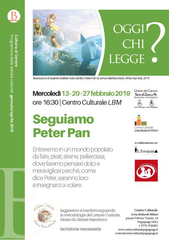Seguiamo Peter Pan - Oggi chi legge? Mercoledì, febbraio 2019