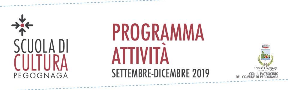 Scuola di Cultura. Programma attività settembre-dicembre 2019